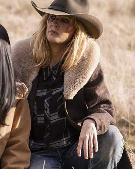 Tv Series Yellowstone Beth Dutton Brown Wool Coat
