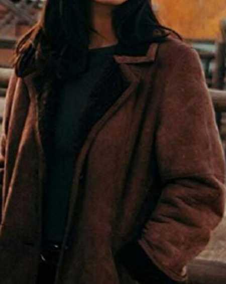 TV series Yellowstone Monica Dutton Brown Coat