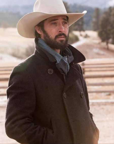 Ryan Bingham Yellowstone Wool Pea Coat