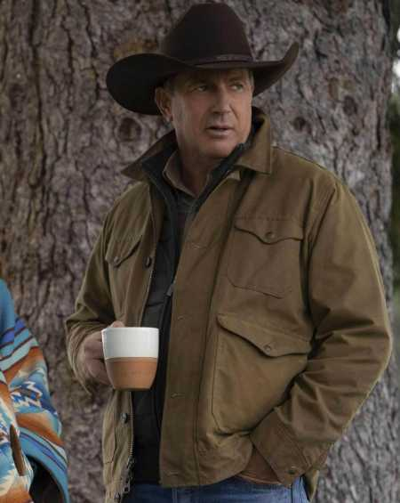 Kevin Costner Yellowstone Brown Jacket