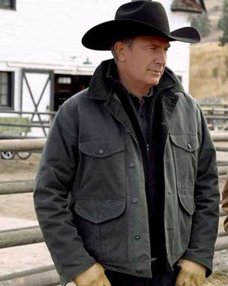 Yellowstone Kevin Costner Green Jacket