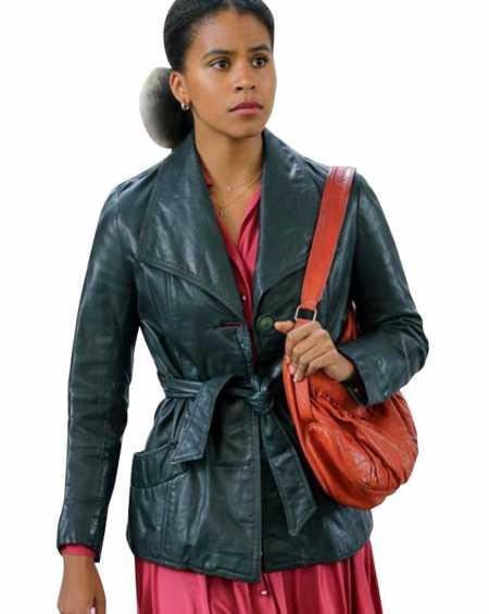 Zazie Beetz Joker Black Leather Jacket
