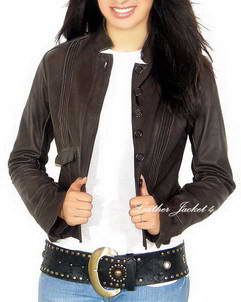 Agnona Leather washed jacket