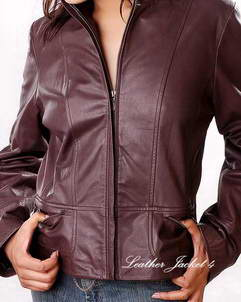 Alexis Womens Scuba Leather Jacket