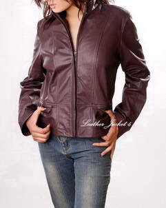 Alexis scuba leather jacket