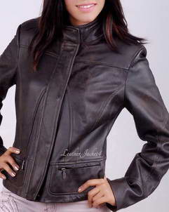 Alison Women Leather Bomber Jacket