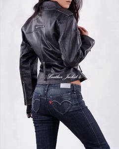 biker womens leather jacket