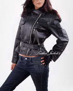 Alyssa biker womens leather jacket