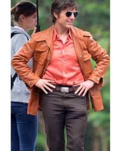 American-Made American Made Movie Tom Cruise Leather Jacket