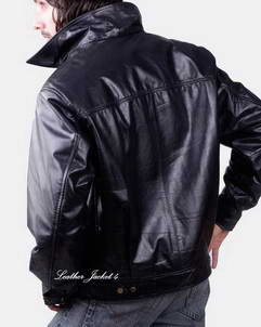 Leather Full-Zip Placket Leath