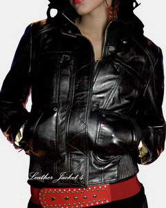 Avignon Zip Front Lambskin Leather Jacket