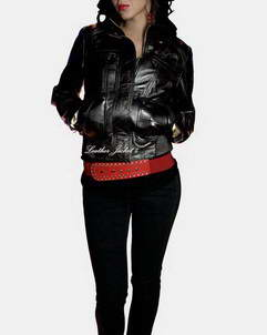 Avignon leather jacket women