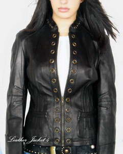 Axton Eyelet Womens Leather Jacket