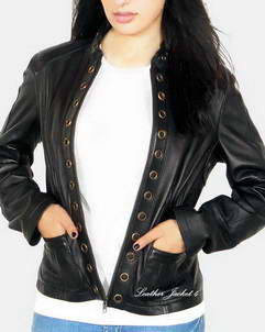 Axton Eyelets leather jacket