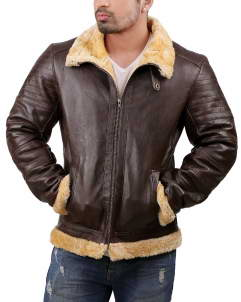 B3-Shearling leather jacket
