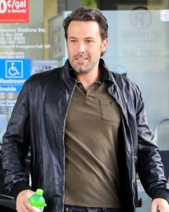 Ben-Affleck Ben Affleck Black Leather Jacket