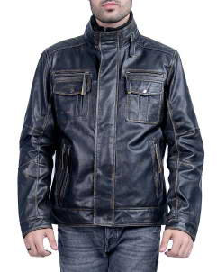 Black Racer Mens Leather Jacket