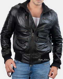 Bozeman mens lamb leather jacket