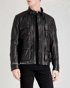 Brad-Black Movie Leather Jacket