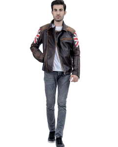 British Biker Leather Jacket