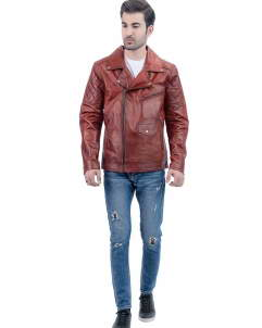 Brown Biker Leather Jackets for Mens
