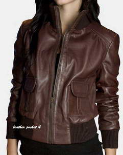 Nancy Brown leather jacket women