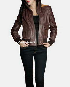 Nancy Brown leather jacket womens