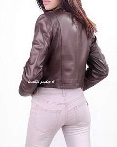 Women Slim Fit Leather Jacket