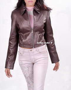 Butte slim fit leather jacket