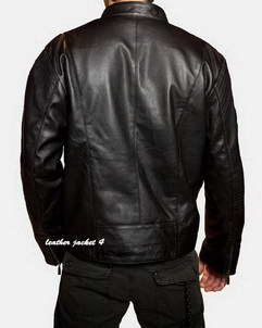 Calais mens leather jacket