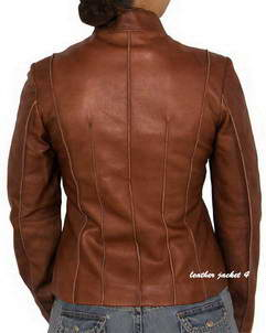 zip through leather jacket