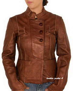 Canby zip through leather jacket