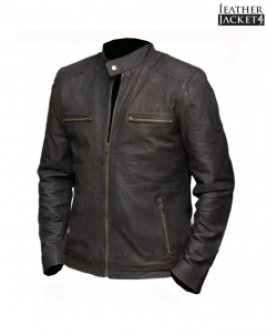Steve-Rogers Civil War Steve Rogers Brown Leather Jacket