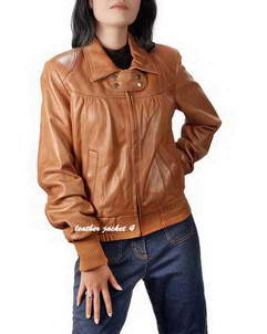 Cleveland womens bomber leather jacket
