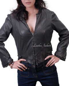 College College leather jacket