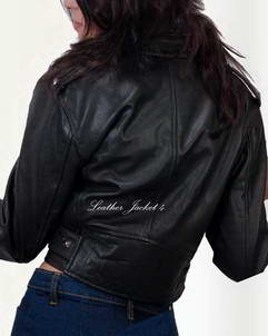 leather skin biker jacket