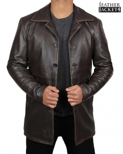 Dean-Winchester Dean Winchester Supernatural Winter Real Leather Coat