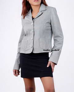 Destiny leather blazer ladies