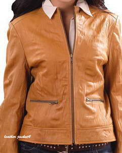 Emily Women Washed Leather Jacket