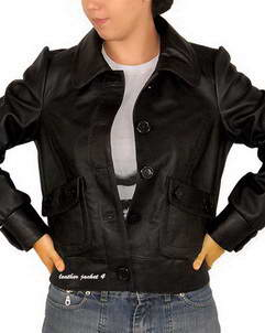 Eureka Sew button leather jacket