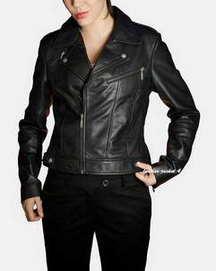 Evreux biker leather jacket