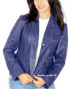 Blazer womens leather blazer