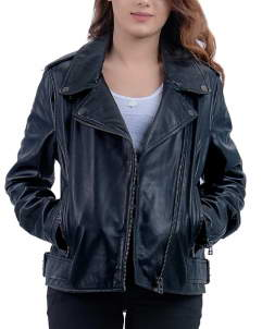 Femme-Noir Femme Noir Leather Jacket Biker For Women