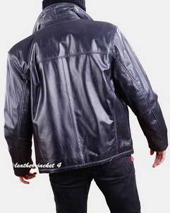 Bomber leather jacket