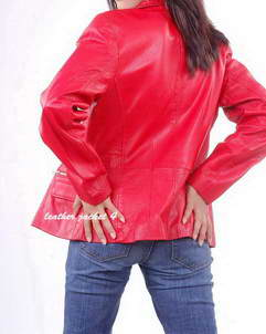 women bomber leather jacket