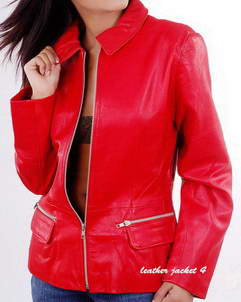 Gracie Bomber Leather Jacket for women