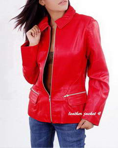 Gracie women bomber leather jacket