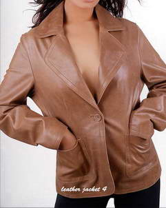Hannah ladies leather blazer