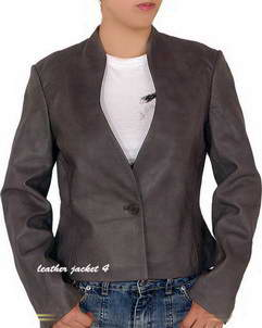 Hays gray leather jacket