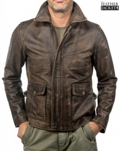 Indiana-Jones Indiana Jones Vintage Brown Leather Jacket
